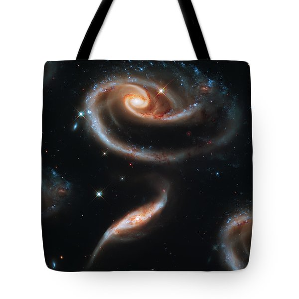 Deep Space Galaxy Tote Bag by Jennifer Rondinelli Reilly - Fine Art Photography