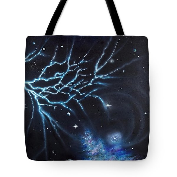 Tote Bag featuring the painting Deep Space by Mary Scott