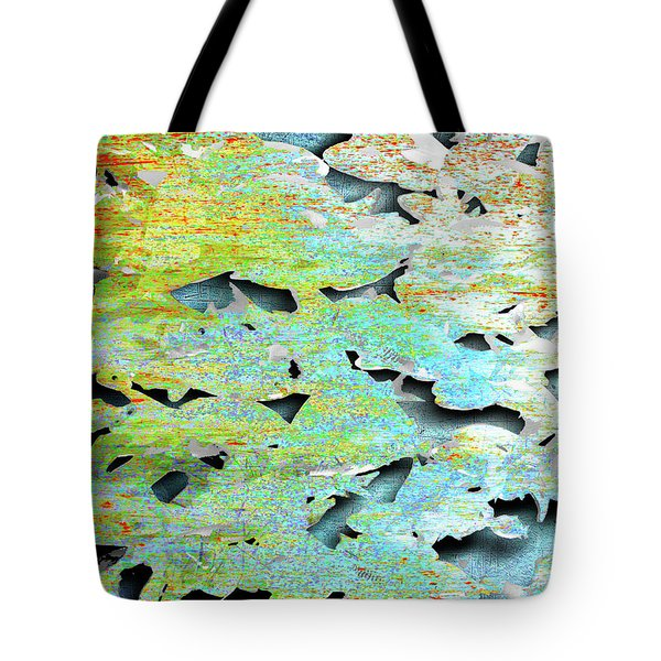 Tote Bag featuring the mixed media Deep by Tony Rubino