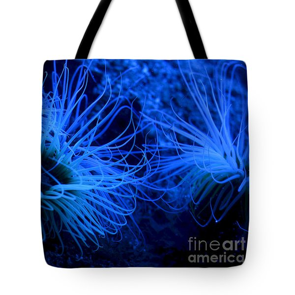 Tote Bag featuring the digital art Deep Underwater by Leo Symon