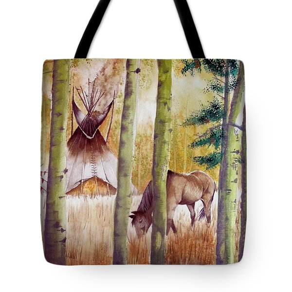 Deep Woods Camp Tote Bag