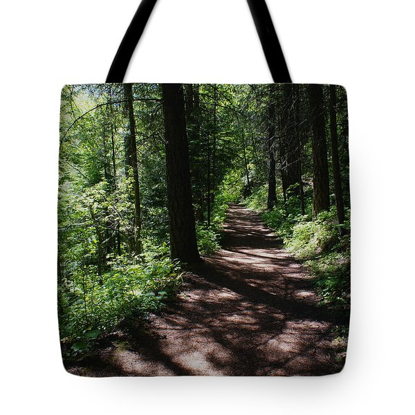 Tote Bag featuring the photograph Deep Woods Road by Ben Upham III