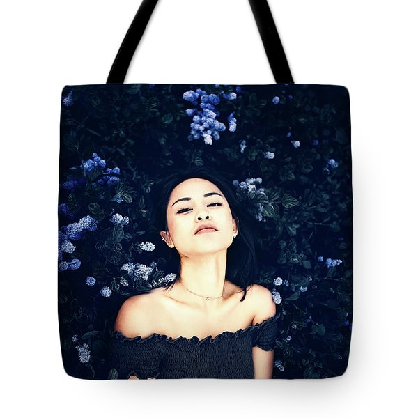 Deepest Blue Tote Bag by Marji Lang