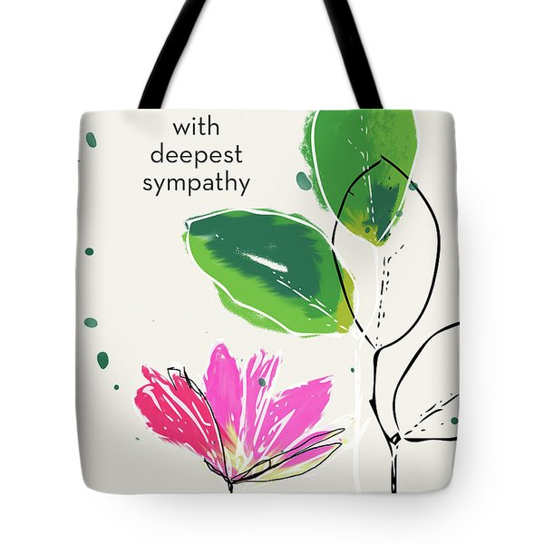 Deepest Sympathy Daisy- Art By Linda Woods Tote Bag