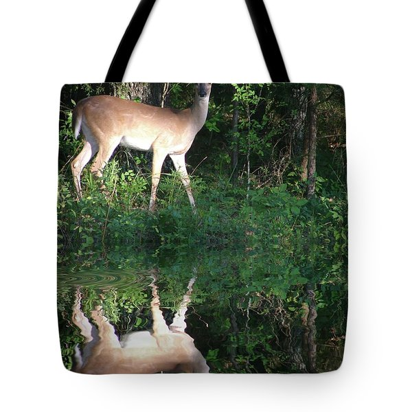 Deer At Dusk Tote Bag