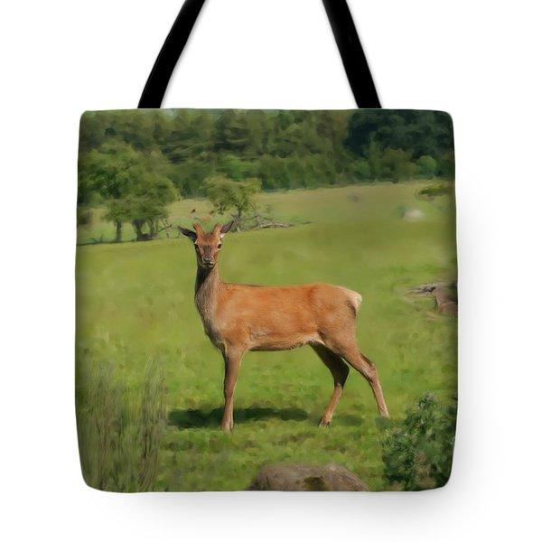 Deer Calf. Tote Bag
