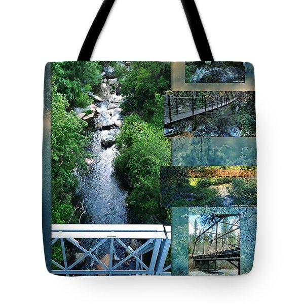 Deer Creek Bridges Tote Bag