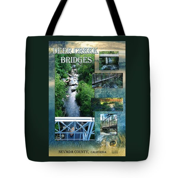 Deer Creek Bridges Tote Bag