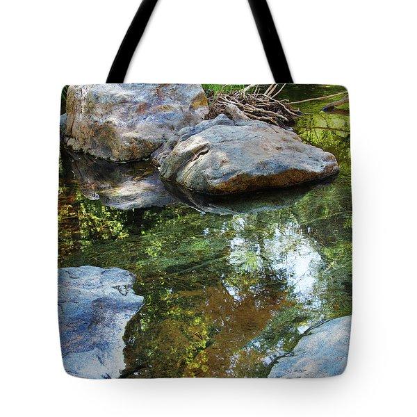 Deer Creek Point Print Tote Bag