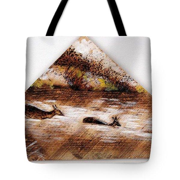 Deer Crossing One Tote Bag