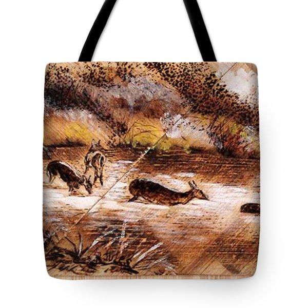 Deer Crossing Tote Bag