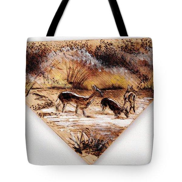 Deer Crossing Two Tote Bag