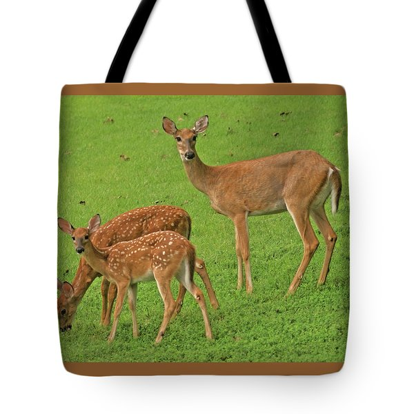 Deer Family Tote Bag