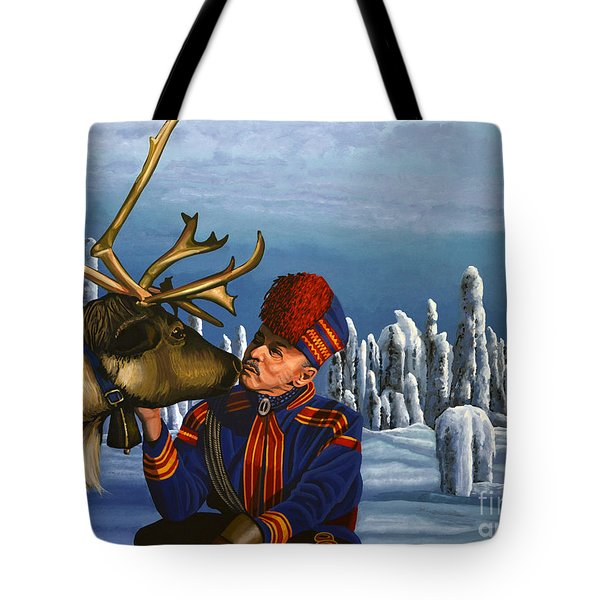 Deer Friends Of Finland Tote Bag