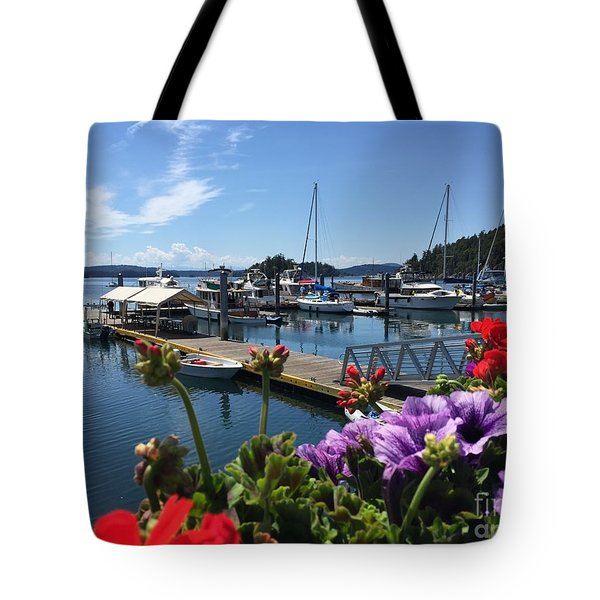 Deer Harbor By Day Tote Bag