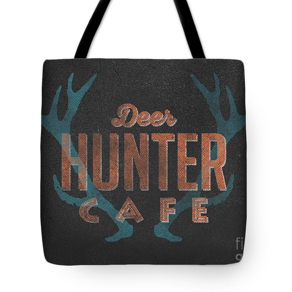 Deer Hunter Cafe Tote Bag by Edward Fielding