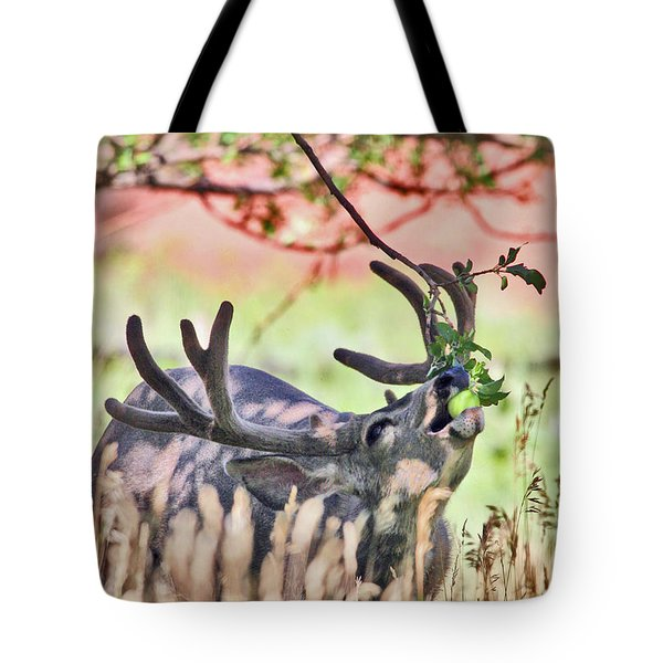 Deer In The Orchard Tote Bag