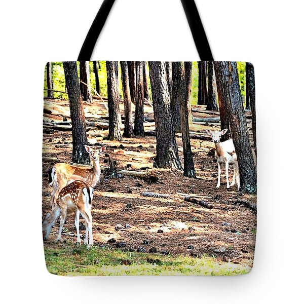 Deer In The Summer Forest Tote Bag