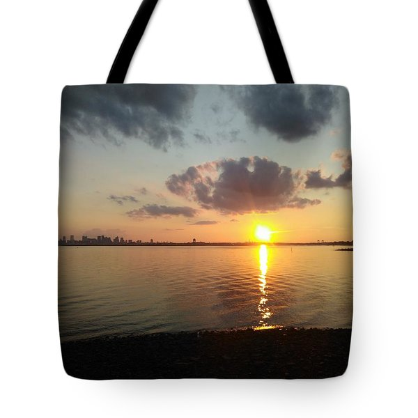 Deer Island Sunset Tote Bag