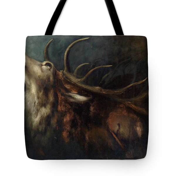 Dying Deer Tote Bag