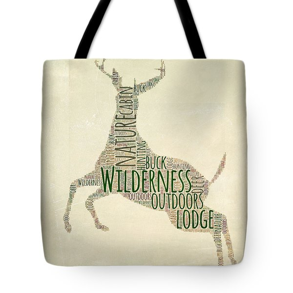 Deer Leaping Tote Bag