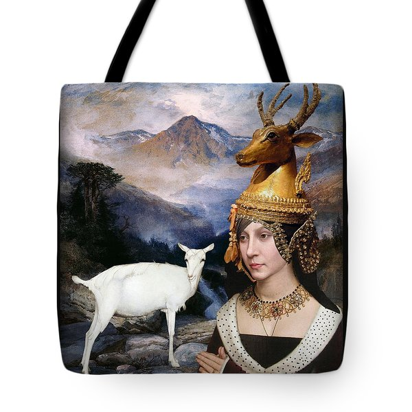 Deer Medicine Woman Tote Bag