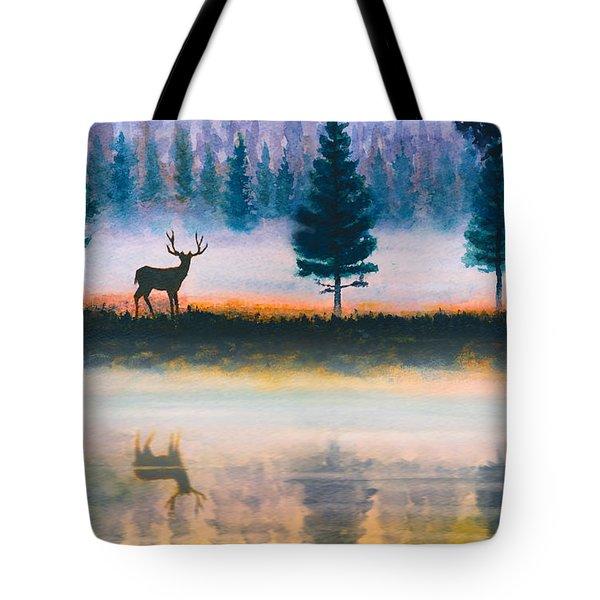 Deer Morning Tote Bag