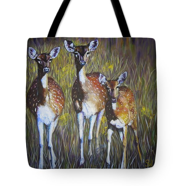 Deer On Guard Tote Bag