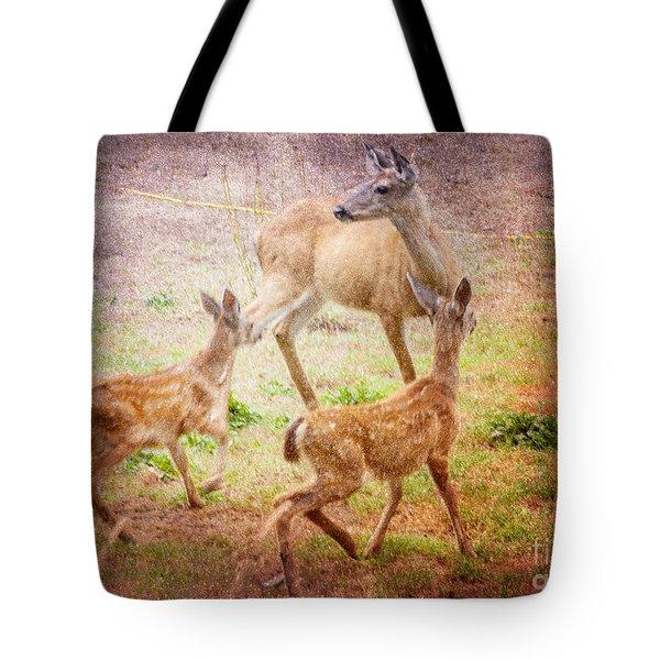 Deer On Vancouver Island Tote Bag