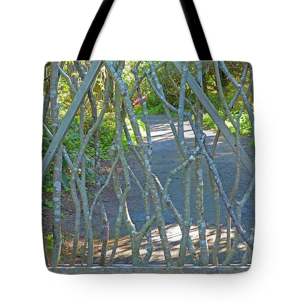Tote Bag featuring the photograph Deer Proof Gate by K L Kingston