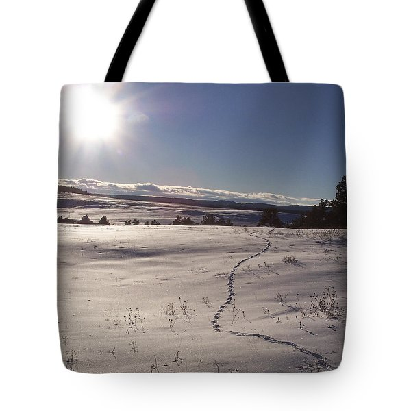 Deer Tracks Tote Bag