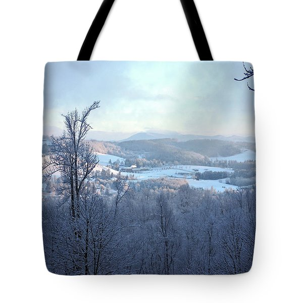 Deer Valley Winter View Tote Bag by Meta Gatschenberger