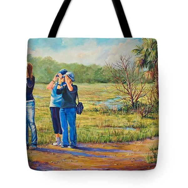 Deer Watching Tote Bag