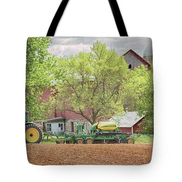 Deere On The Farm Tote Bag