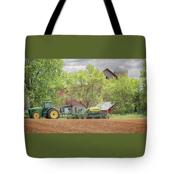 Deere On The Farm Tote Bag