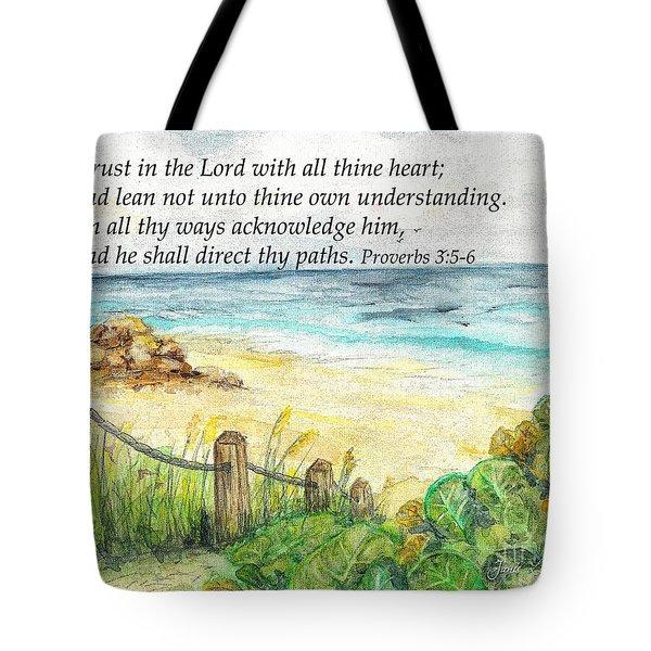 Deerfield Beach Sea Grapes Proverbs 3 Tote Bag