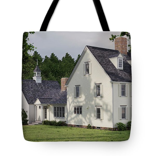 Deerfield Colonial House Tote Bag