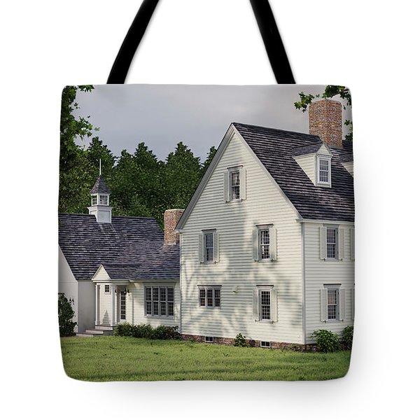 Deerfield Colonial House Tote Bag