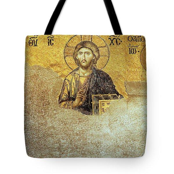 Deesis Mosaic Hagia Sophia-christ Pantocrator-judgement Day Tote Bag