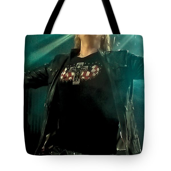 Def Lappard's Joe Elliott Tote Bag by David Patterson