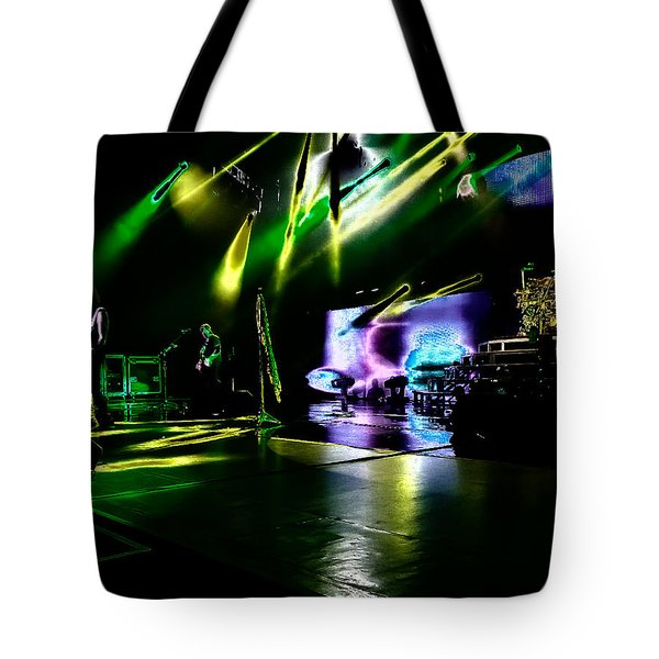 Def Leppard At Saratoga Springs 4 Tote Bag by David Patterson