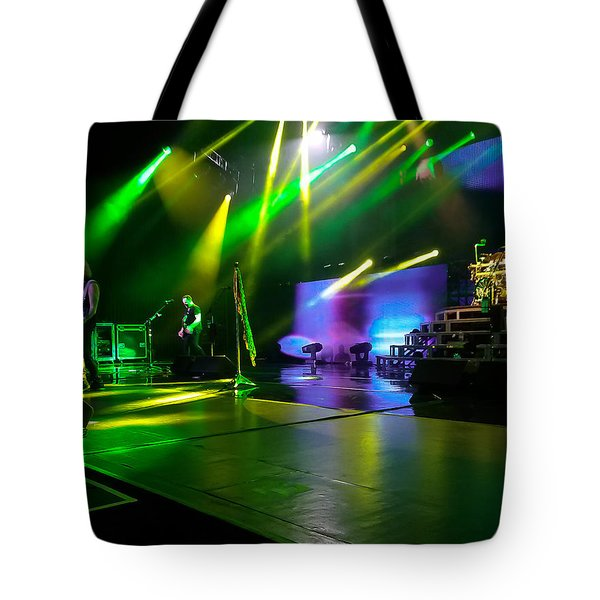 Def Leppard At Saratoga Springs Tote Bag by David Patterson