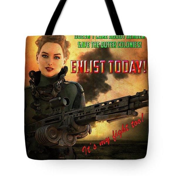 Defending Freedom Tote Bag