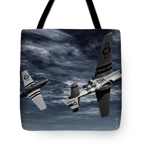 Defensive Split  Tote Bag by Richard Rizzo
