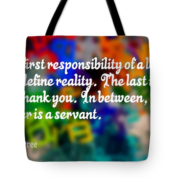 Define Reality Tote Bag