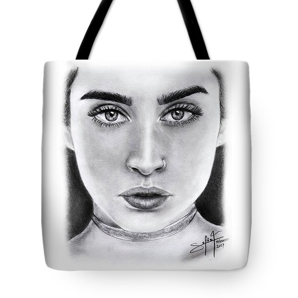 Lauren Jauregui Drawing By Sofia Furniel  Tote Bag