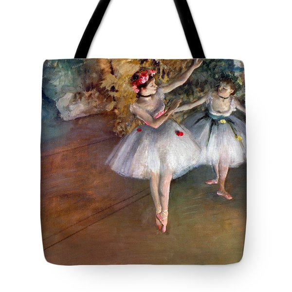 Tote Bag featuring the photograph Degas: Dancers, C1877 by Granger