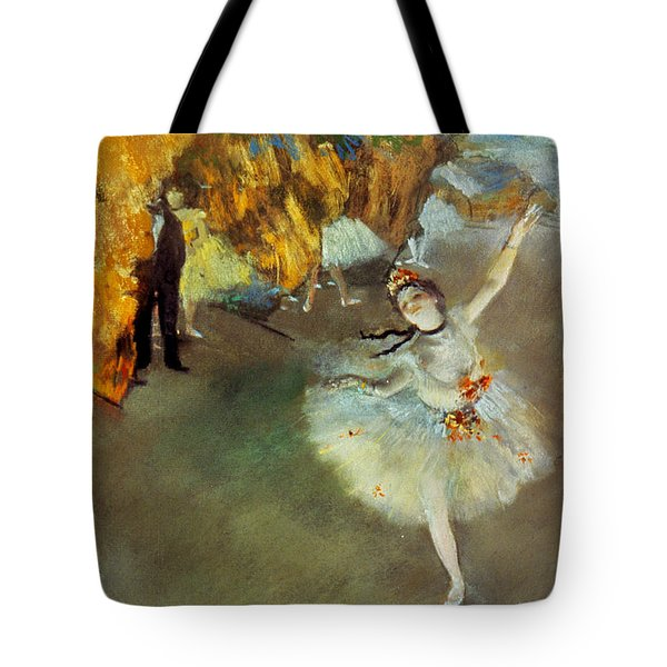 Tote Bag featuring the photograph Degas Star, 1876-77. To License For Professional Use Visit Granger.com by Granger