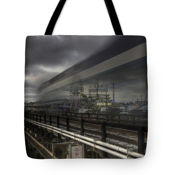 Del Mar Train Tote Bag