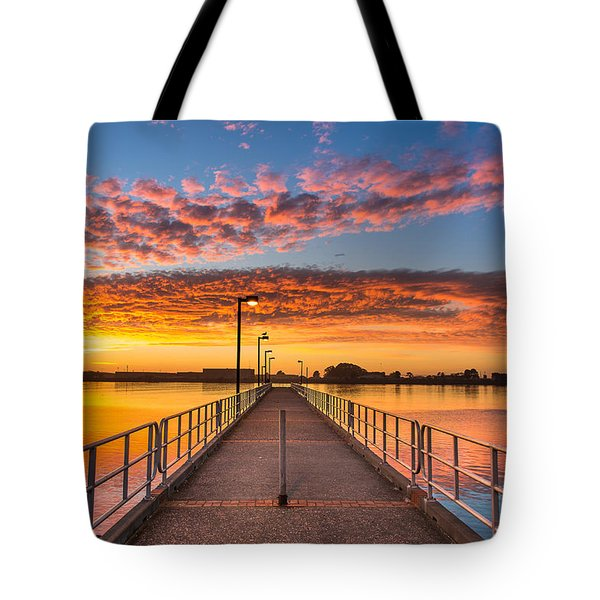 Del Norte Pier At Sunset Tote Bag